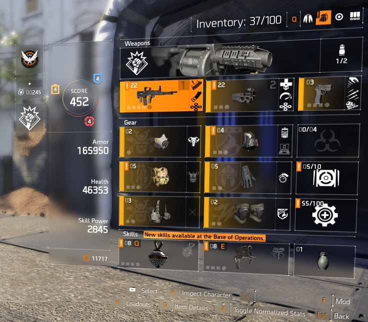 Selling] High End Division 2 Account, Level 30 with 450+ Gear Score
