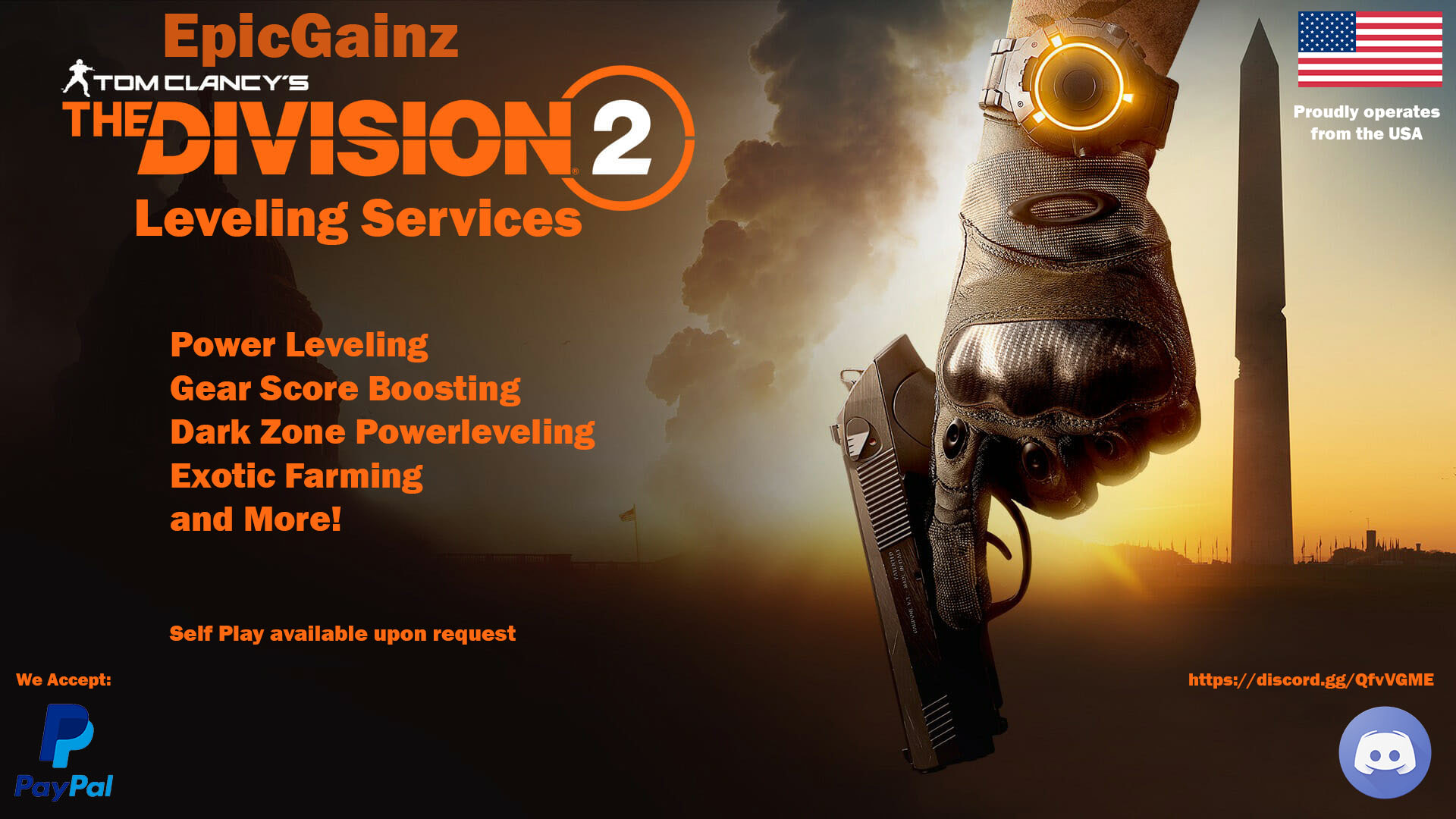 Selling] [PC] EpicGainz The Division 2 Services! Cheap and quick!