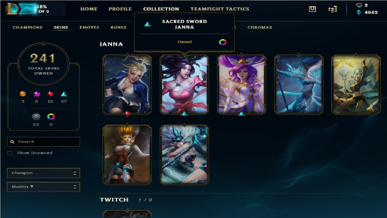 Trading] I want to trade my LoL EU acc with 200+ Skins for