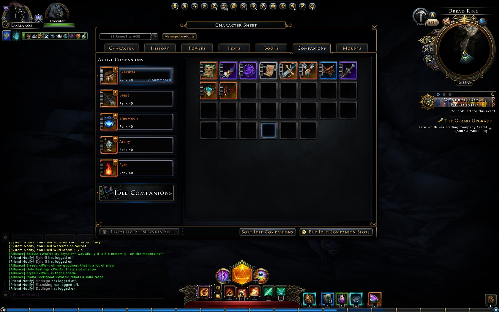 Selling] Selling neverwinter account multi chars,legendary mounts