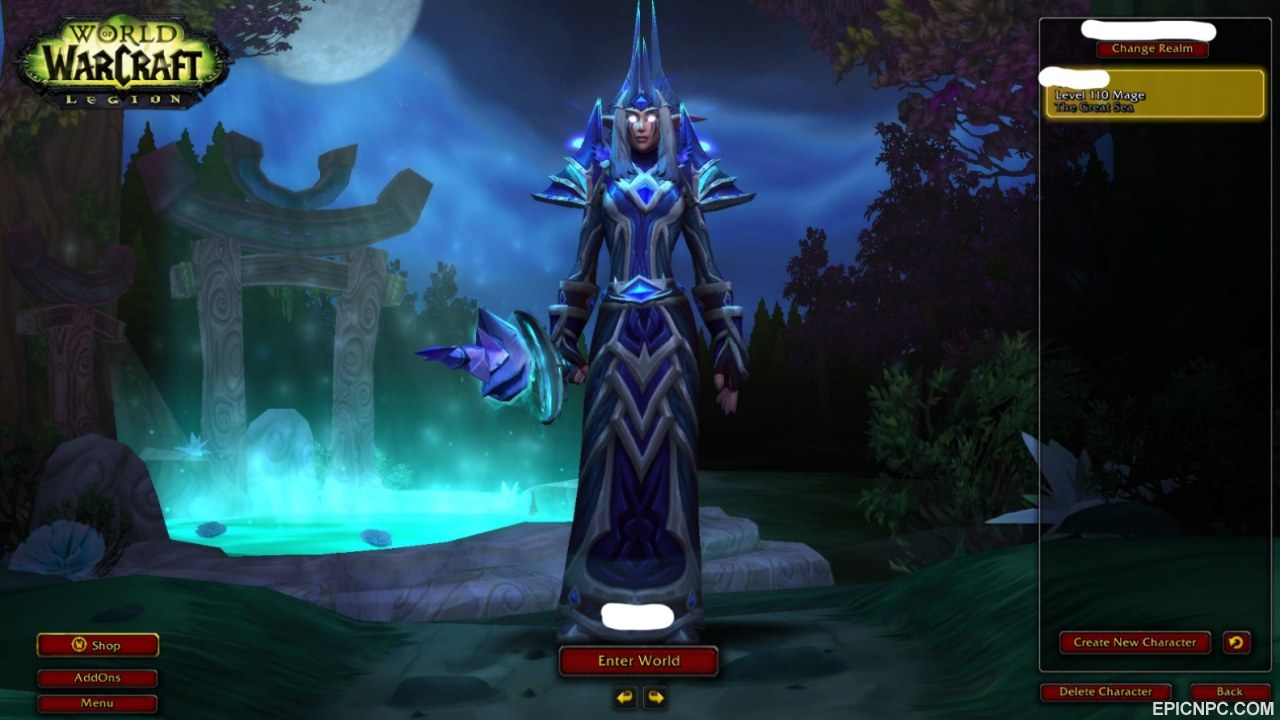 Selling 880 Ilvl Night Elf Mage Battle For Azeroth Included