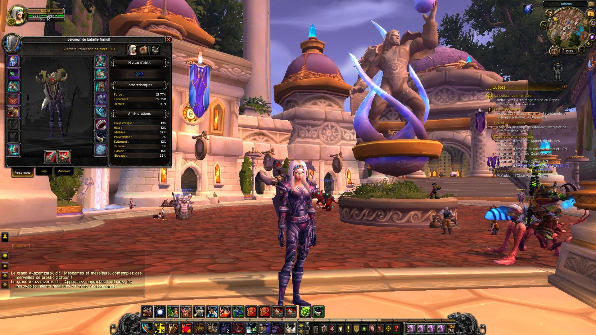 Selling] World of Warcraft Legion - WARRIOR 110 BLOOD ELF FEMALE