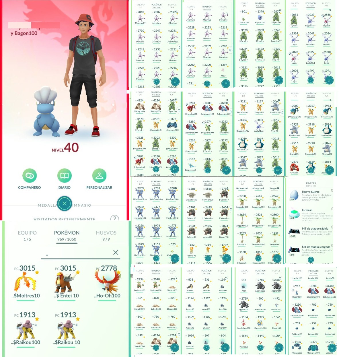 Selling] Legit acc level 40 all 100iv collection